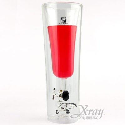 X射線【C060009】斑點狗香檳杯2...