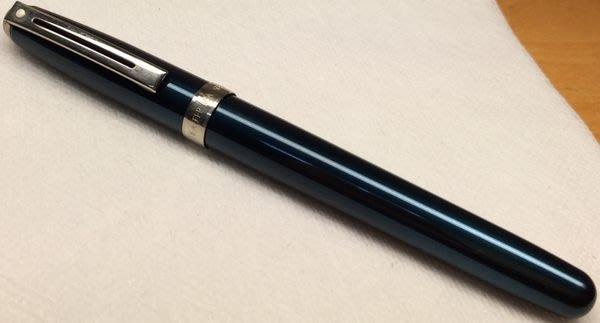 威利的鋼筆世界【西華新款平價鋼筆大集合】全新SHEAFFER PRELUDE藍色烤漆銀夾鋼筆 F