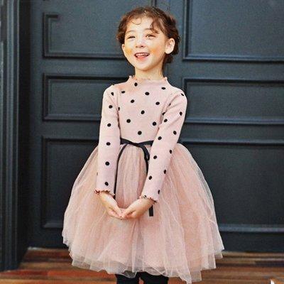 艾町Eyeing Shop 春秋新款上市 韓版木耳卷邊  甜美 蓬蓬裙 紗裙 連身裙 洋裝