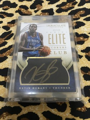 Kevin Durant 簽 auto
