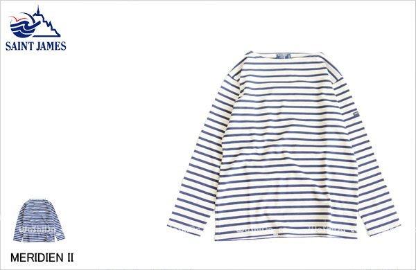 WaShiDa【5196】SAINT JAMES 法國 MERIDIEN II 粗條紋 長袖 T恤 - 現貨