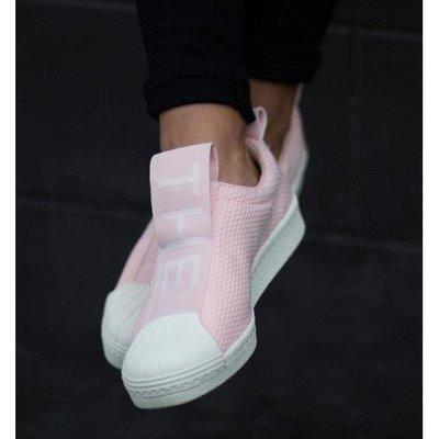 Adidas Slip On 黑 白 粉 包鞋 繃帶 懶人 新款  BY9138
