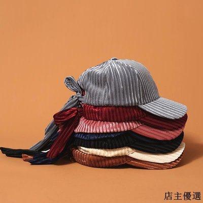 帽子女秋冬簡約百搭軟妹蝴蝶結棒球帽韓版時尚絲光燈芯絨鴨舌帽潮