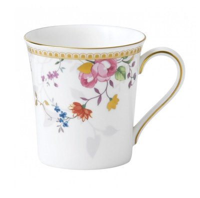【BRASS PARK 銅公園】英國 WEDGWOOD ROSE GOLD 花卉彩繪茶杯 老件/復古/配件/餐具