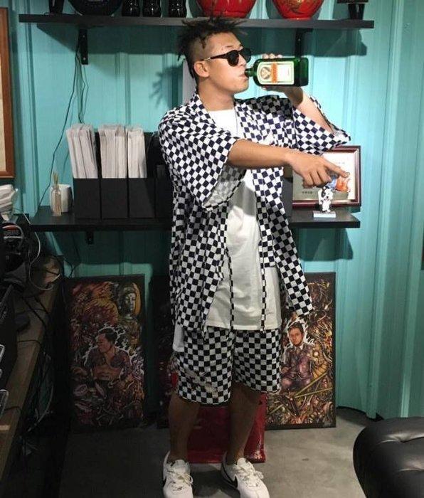 { POISON } KYOTO STREET KIMINO 鶴日章刺繡短褲 和服便服短褲