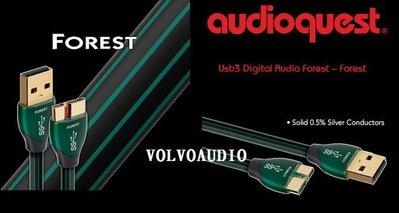 【富豪音響】美國Audioquest Forest USB線(USB 3.0A-MICRO)1.5M