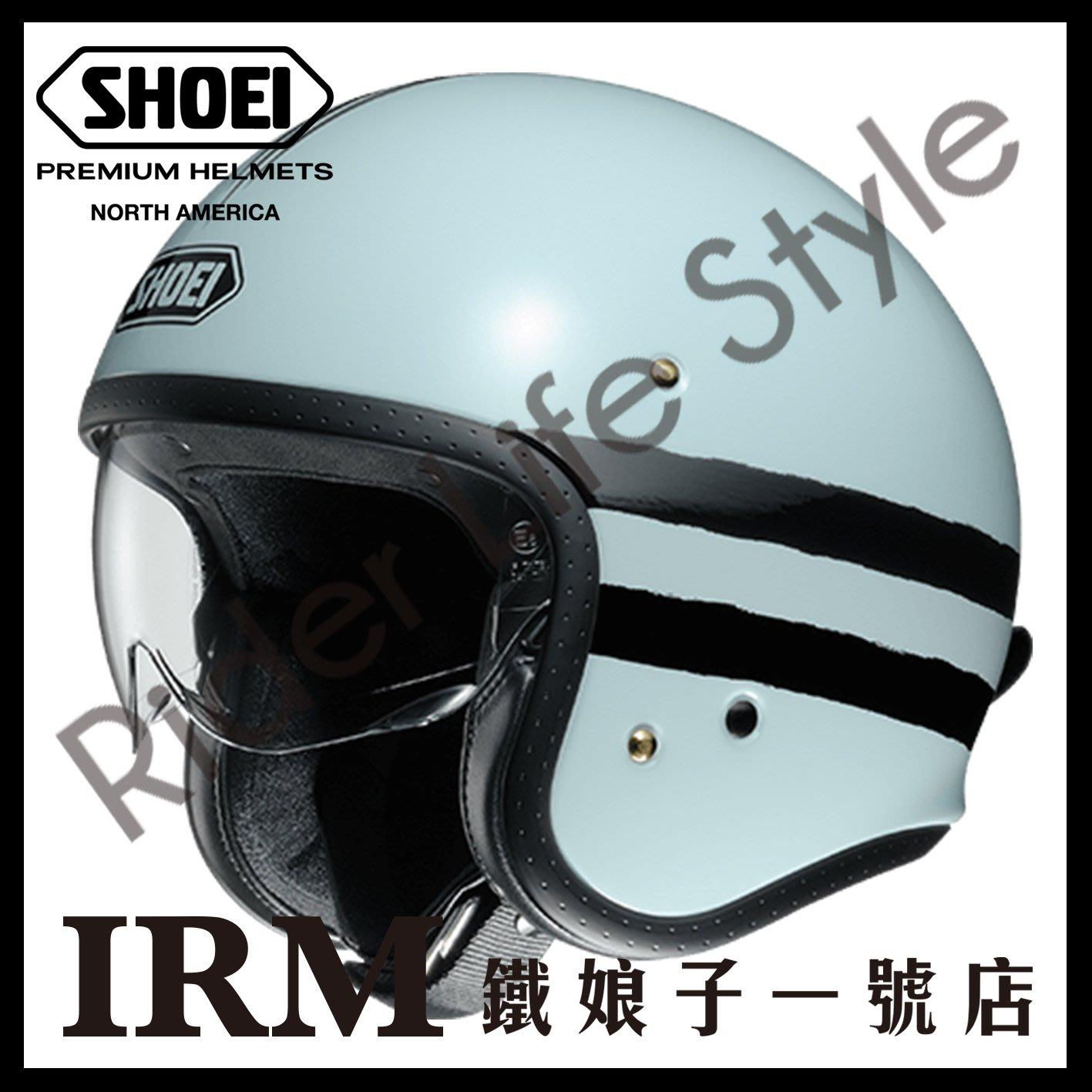 【鐵娘子一號店】日本 SHOEI J-O J・O SEQUEL 四分之三罩安全帽 內藏墨片 內襯全可拆洗 3/4 灰/黑