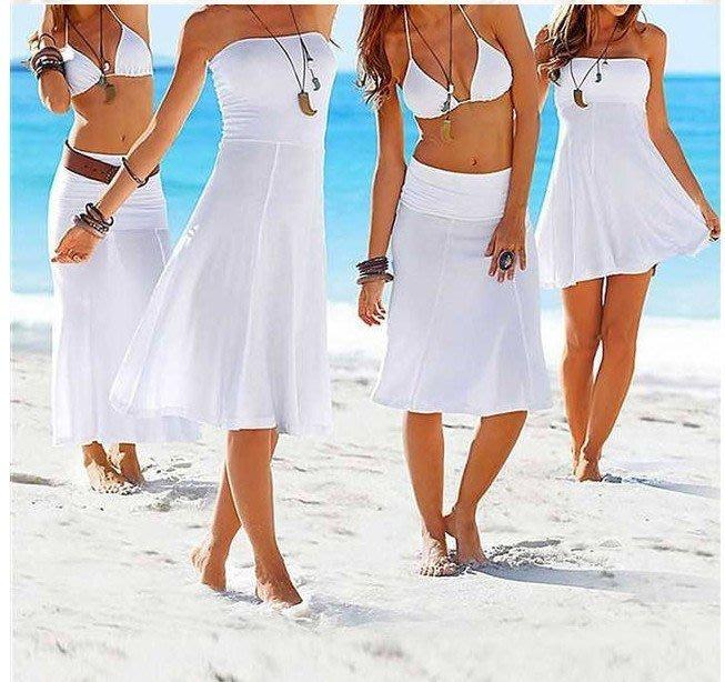 【NAINAIS】Hawaii‧8847 韓版 夏威夷外搭 比基尼多穿法罩衫長裙洋裝沙灘裙 <橘色現貨下標區>