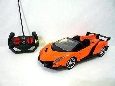 Mini酷啵玩具館~1/ 16 1:16 仿真外型藍寶堅尼遙控車 敞篷跑車~橘色 桃園市