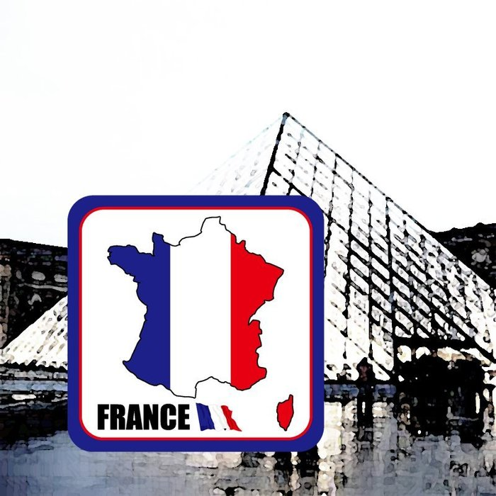 【國旗貼紙專賣店】法國旗領土防水、抗UV行李箱貼紙/各尺寸、多國都有客製/France