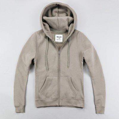 【MELEK Clothes】【MELEK】MELEK女款棉質連帽外套全素款可可 I01140124-09