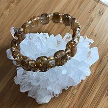 High quality Crystal bracelet/通透金髮晶手鍊