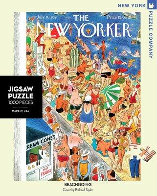 拼圖世家[現貨]正版紐約客New Yorker拼圖NY202海灘度假 Beachgoing1000片