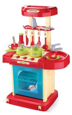 A-Q小家電 008-56 手提豪華廚房組 兒童 餐具 廚房玩具 創意廚房 生日禮物 小朋友 扮家家酒