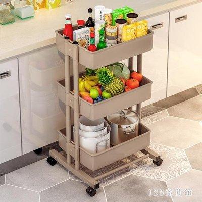 可移動置物架 休閒家用廚房小推車層架美甲客廳帶輪收納架子LB19203