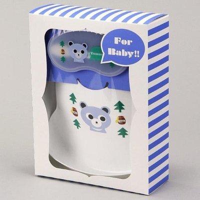 尼德斯Nydus~* 嚴選日本製 嬰兒/Baby用品 餐具組 圍兜兜 湯匙 餐盒 小熊/小貓 共2款