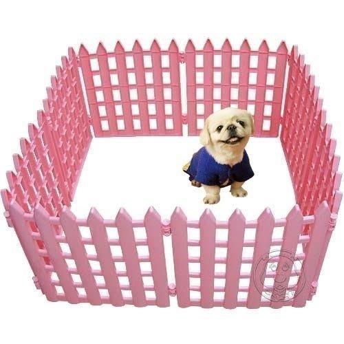 【🐱🐶培菓寵物48H出貨🐰🐹】寵物塑膠圍欄2種顏色‧『高65公分*8片』中小型犬專用 特價1549元(限宅配)