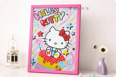(現貨)DIY KITTY甜甜圈鑽石畫 30X40含框