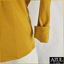 日本二手衣✈️AZUL BY MOUSSY 近新品 長袖T恤 純色V領T 休閒T 長T恤 AZUL 女L号 A2377A