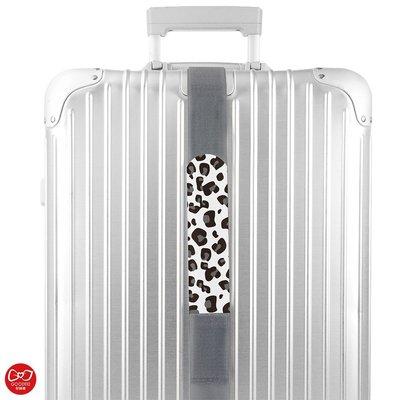 【創意生活】雪豹喵喵 可收納行李帶 5*215公分 / 行李帶 / 行李綁帶 / 行李束帶