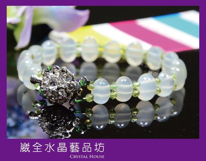 【崴全水晶】頂級 月光石 祼石 手排 【7*9.5 mm】