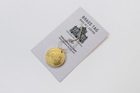 ArielWish日本Traveler's notebook FACTORY東京站限定版旅人旅行黃銅吊飾掛飾書籤-日本製