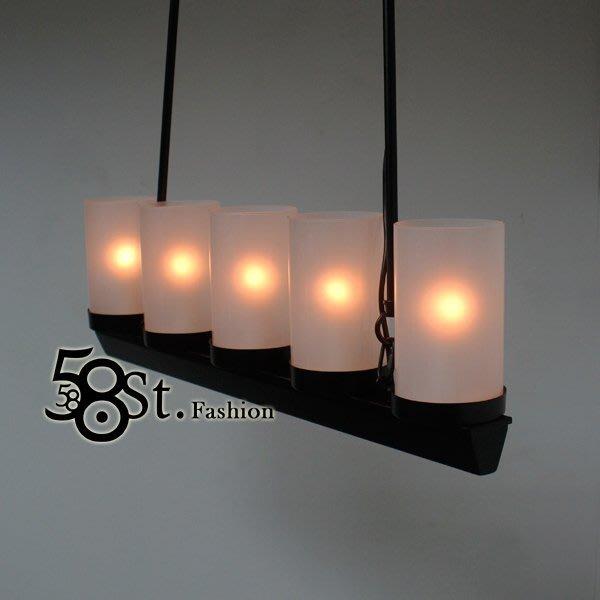 【58街】西班牙設計師新款「燭光吊燈」美術燈。複刻版。GH-446