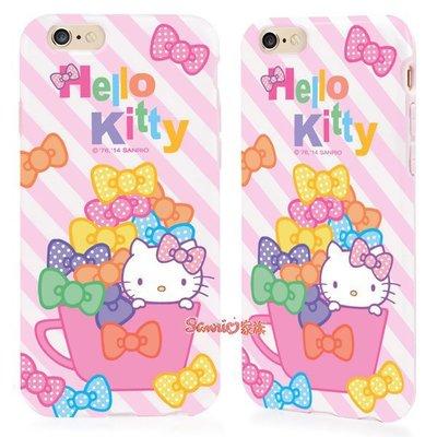 """《東京家族》""""特價出清""""正版 hello kitty蝴蝶結杯 iphone 6/6S 4.7吋軟殼保護殼手機殼"""