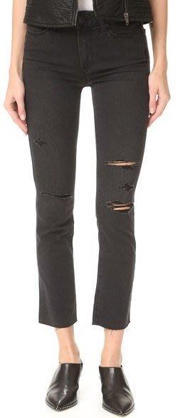 ◎美國代買◎PAIGE Jacqueline Straight Leg不收褲管刷破小直筒設計高腰合身小直筒八分牛仔褲
