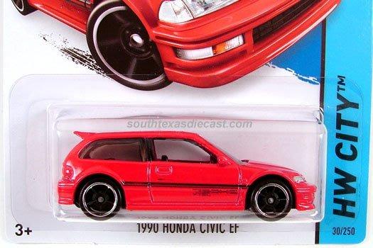 (I LOVE樂多)hot wheelshot 1990 HONDA CIVIC EF風火輪 1:64