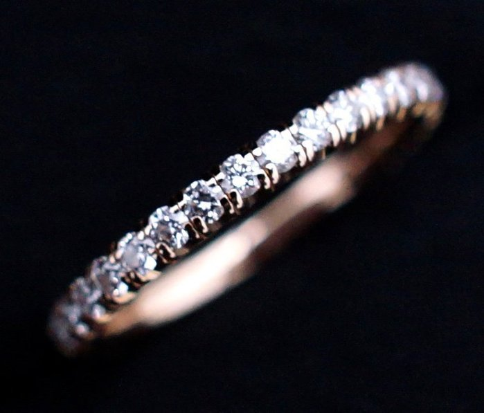 【CARTIER】WEDDING 全鑽 750K玫瑰金 線戒 鑽戒 0.47CT 45