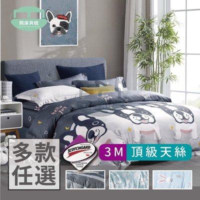 §同床共枕§3M頂級天絲 雙人5x6.2尺 薄床包舖棉兩用被四件式組 加高35cm-多款選擇