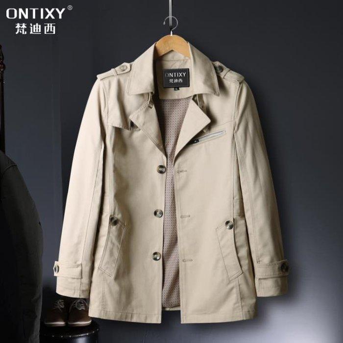 男士外套中長款新款秋季韓版修身帥氣夾克春秋裝休閒風衣工裝