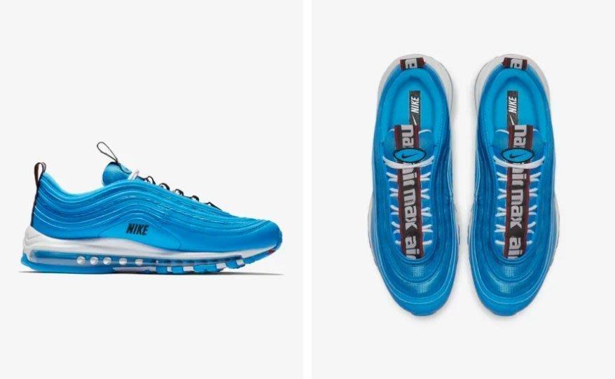 Nike Air .Max 97 Premium 休閒運動 藍 慢跑鞋 312834-401 男女鞋