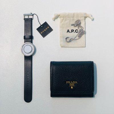 [ RainDaniel ] 日本品牌 HYGGE 不銹鋼手錶 白/藍 聚脂皮革錶帶