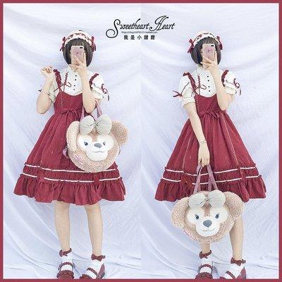 襯衫 日系 雪紡衫夏季日系軟妹少女高腰jsk長袖優雅復古Lolita人形師吊帶連衣裙