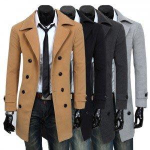 yes99buy加盟-上衣 2014秋裝새로운 男式韓味個性修身時尚中長款風衣 男式百搭呢料外套