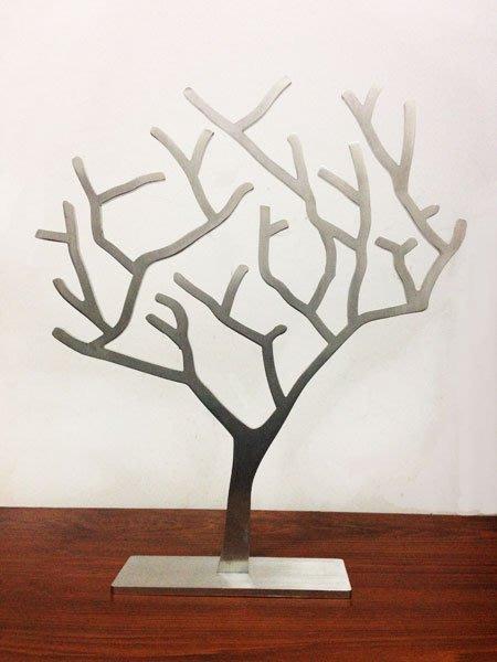 ☆成志金屬☆設計款*不鏽鋼珠寶樹,金屬色澤,工藝質感獨樹一格,實厚5mm,亦可直接作家中擺飾