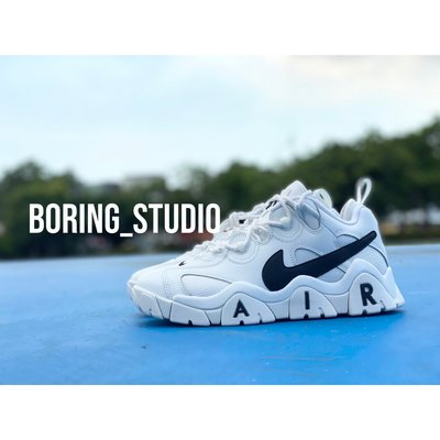 【Boring】NIKE Air Barrage Low 籃球鞋 復古 大勾 白 CW3130-100