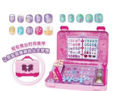 幻彩美甲包 兒童美甲貼套裝 指甲彩繪貼片 防水無毒公主女孩玩具