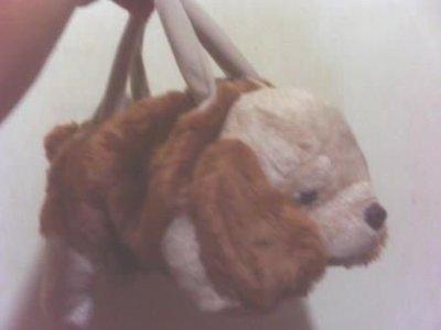 全新可愛狗手提包也可當斜背背包身長約45公分