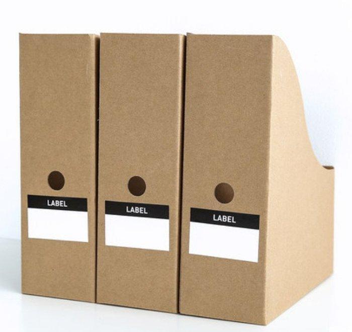 牛皮紙桌面收納盒辦公資料檔書架收納整理盒(3入)(5入)☆找好物FINDGOODS☆