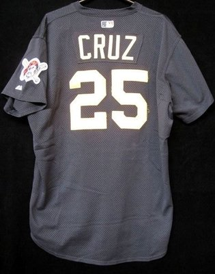 1999 MLB PIRATES 海盜隊 #25 CRUZ GAME USED BP JERSEY  SIZE:50