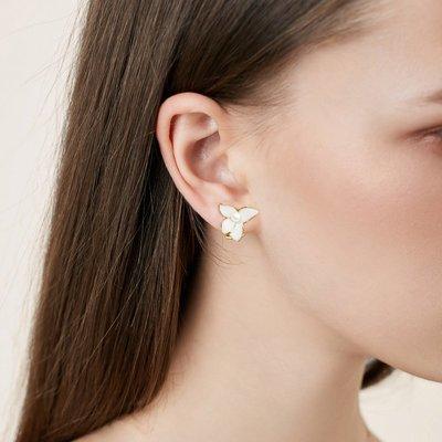 SWEET COVE~無痛日系珍珠花朵耳夾女高級感法式復古輕奢氣質時尚顯臉小無耳洞