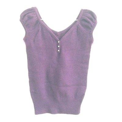 《二手良品》短袖 毛衣 鑽釦裝飾 上班首選