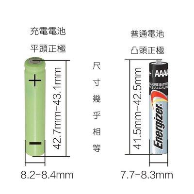 AAAA充電電池,300mAh,電壓1.2V,充飽1.4V,手寫筆 藍牙耳機