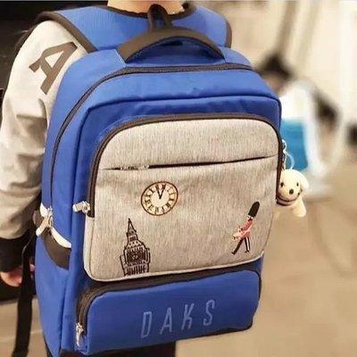 ╭☆包媽子店☆直郵韓國DAKS正品學生書包兒童書包2019年新款男女書包((2件式))