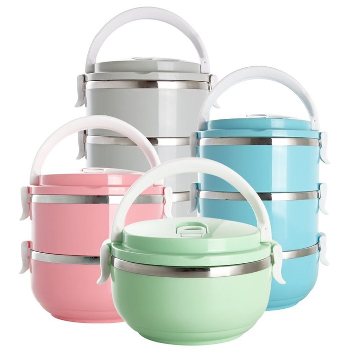 爆款-日式不銹鋼多層保溫桶飯盒大容量分格學生3便當盒1兒童2雙層4餐盒#飯盒#餐具#鍋#便當盒
