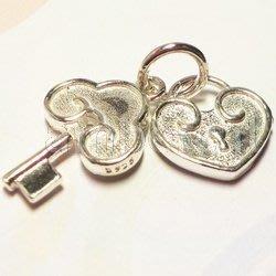 琥珀貓銀飾DIY【925純銀材料配件】墜飾~A0807~稱心如意鎖匙組~一組