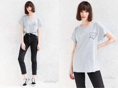 *SISSHOP* 全新正品 Junk Food 美國製 Pizza heart 棉T恤 t-shirt 灰藍條紋現貨